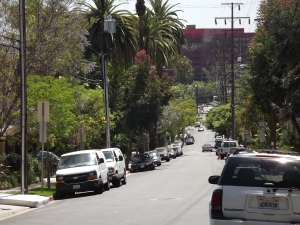 Looking south toward Santa Monica Boulevard