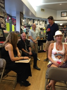 Author mingles with crowd